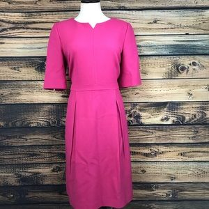 Boden pink sheath career dress 14L